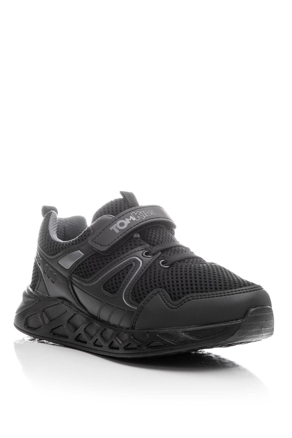 Tonny Black Unisex Çocuk Siyah Spor Ayakkabı TB3401-3 1