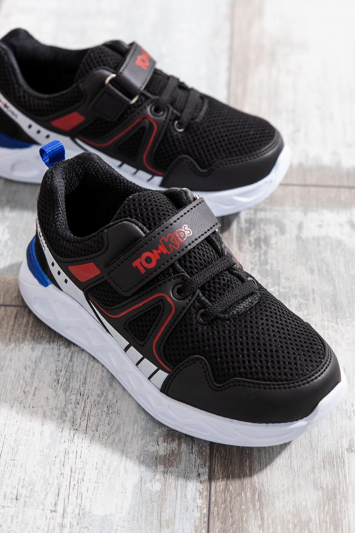 Tonny Black Erkek Çocuk Siyah Çocuk Spor Ayakkabı TB3401-3 0