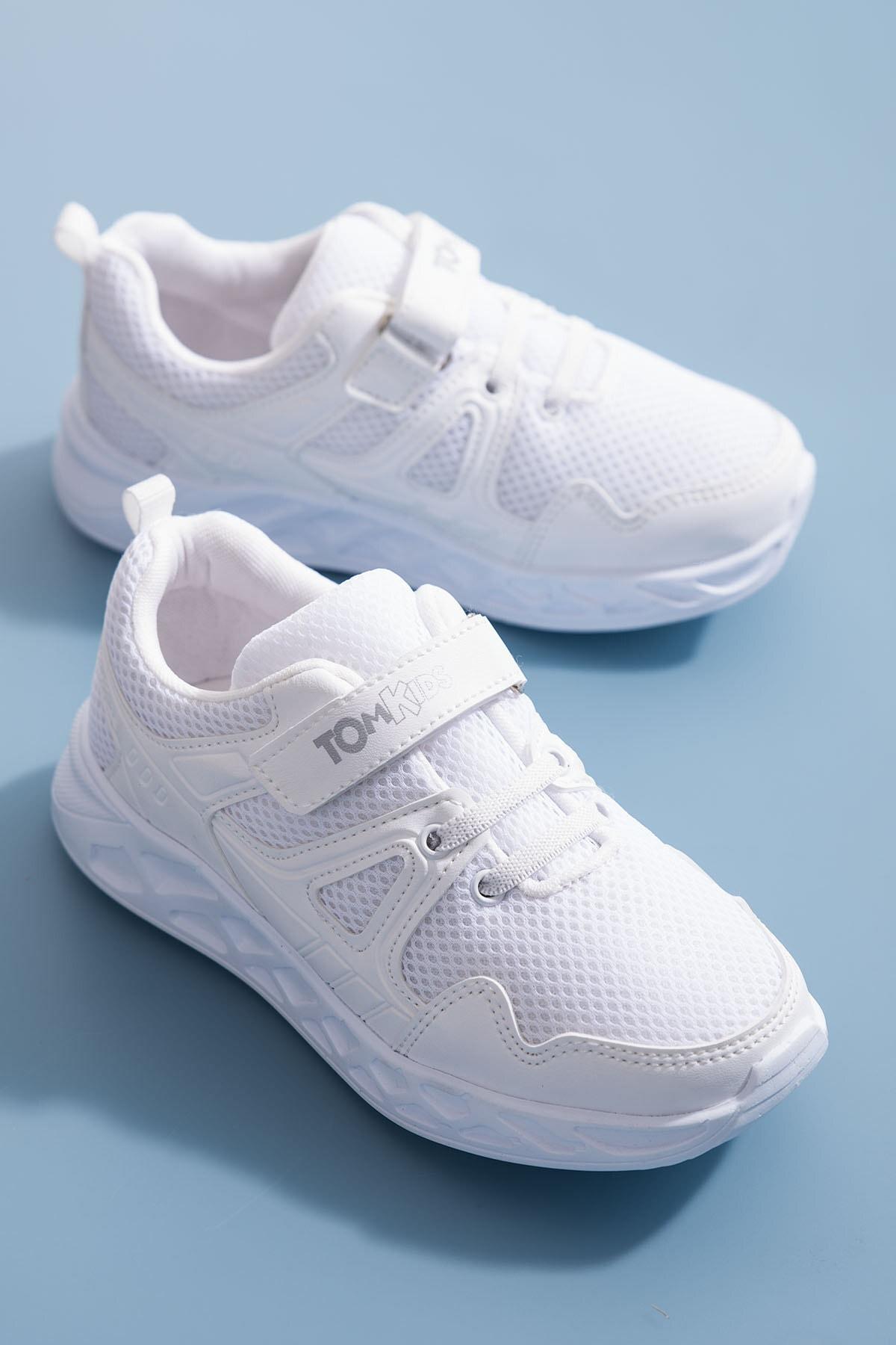 Tonny Black Unisex Çocuk Beyaz Spor Ayakkabı TB3401-3 0