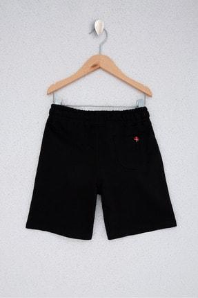 US Polo Assn Siyah Erkek Çocuk Örme Capri Bermuda 1