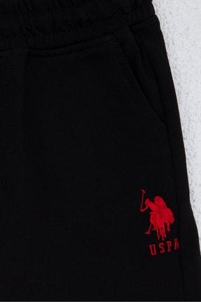 US Polo Assn Siyah Erkek Çocuk Örme Capri Bermuda 2