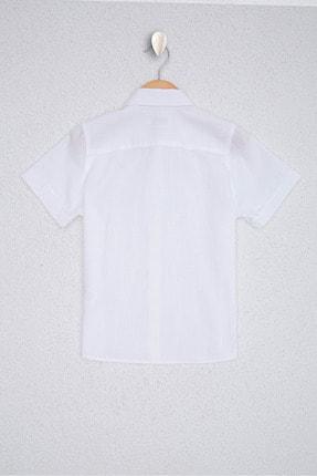 US Polo Assn Beyaz Erkek Çocuk Dokuma Gömlek 0