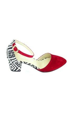 TRENDY Kadın Kırmızı  Bilekten Bağlamalı Topuklu Ayakkabı 100100122 1