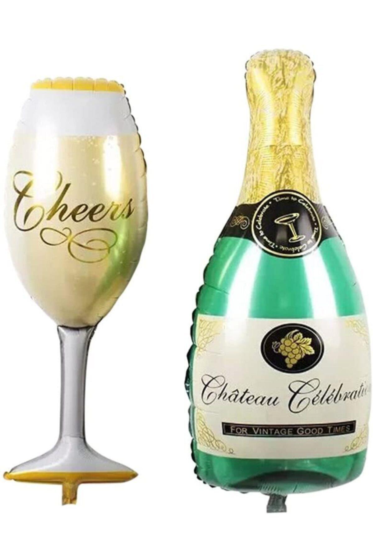 Dev Boy Şampanya Kadeh Folyo Balon Seti
