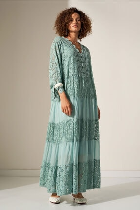 Camena Dantel Detaylı Elbise 2019070500155 0
