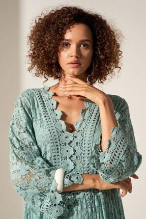Camena Dantel Detaylı Elbise 2019070500155 1