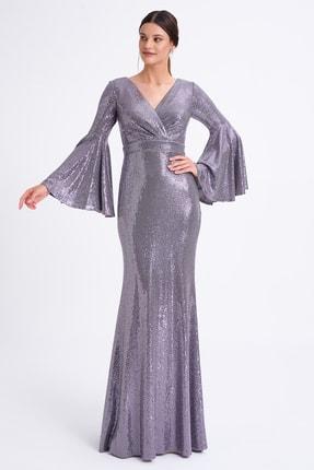 Elbisemhazır Kadın Mor Abiye 0