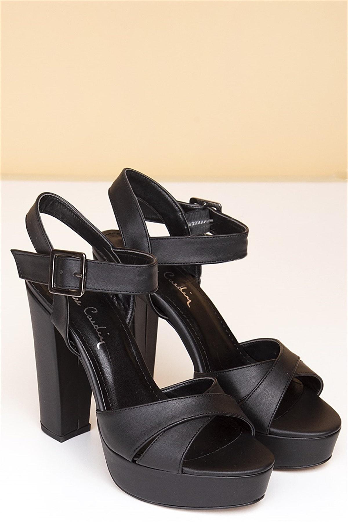 Pierre Cardin Kadın Topuklu Ayakkabı-Siyah