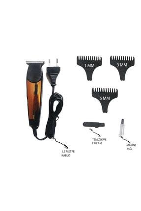 Mkey Siyah 6188 Kablolu Saç Sakal Tıraş Makinesi Seti 1