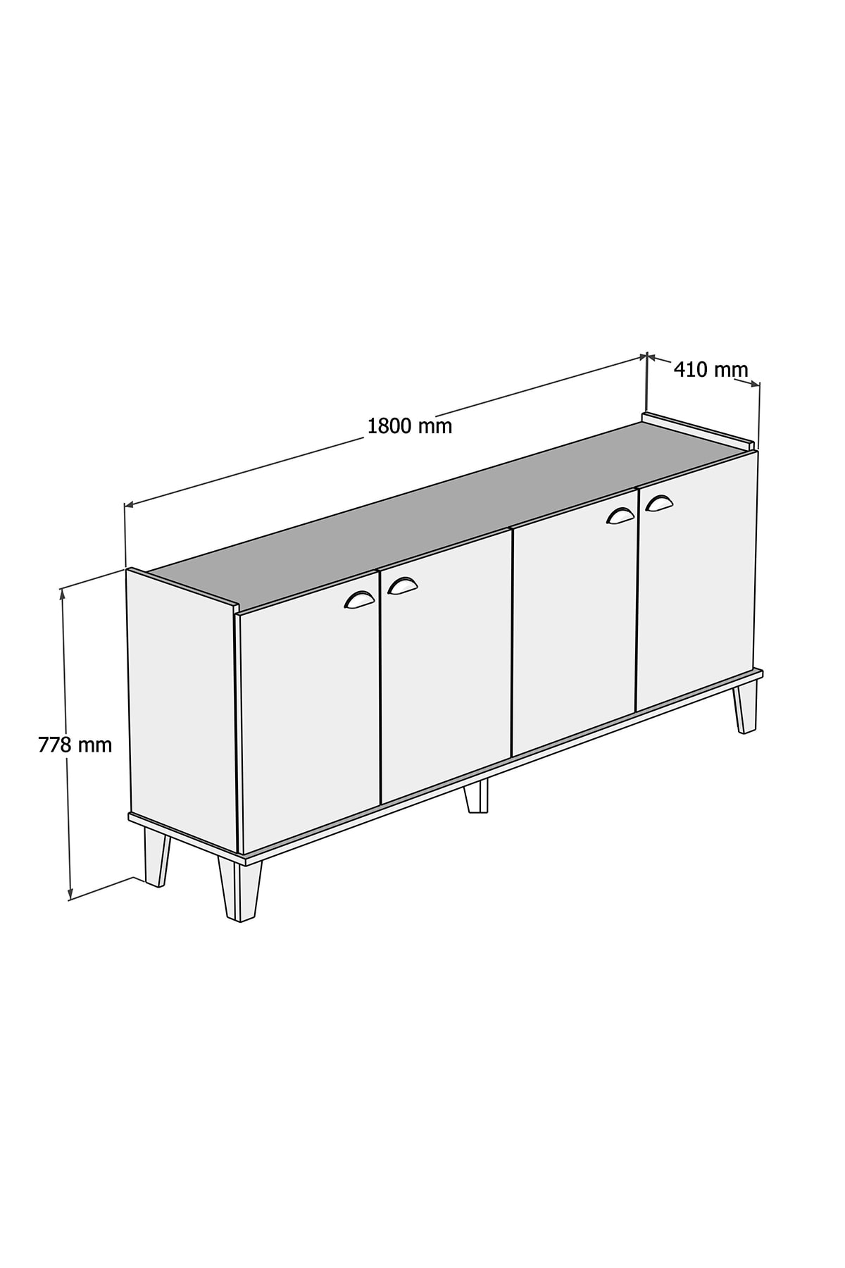 Bimossa H3030 Sümer Konsol Modern Görünüm Sepet/be 4