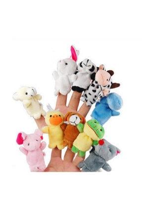 cosy home gift 10 Adet Aile El Peluş Parmak Kukla Oyuncak Hobi Çocuk Eğitim Hayvanlı Set Sevimli Kuklalar 2