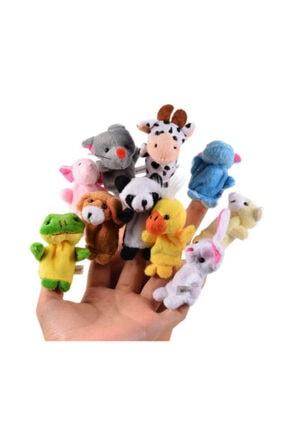 cosy home gift 10 Adet Aile El Peluş Parmak Kukla Oyuncak Hobi Çocuk Eğitim Hayvanlı Set Sevimli Kuklalar 4