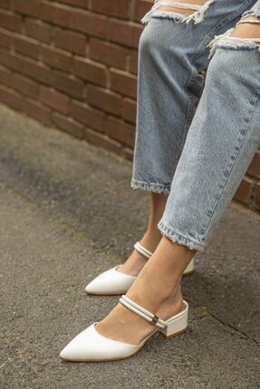 Straswans Sky  Kadın Beyaz  Topuklu Ayakkabı 0