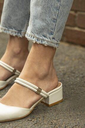 Straswans Sky  Kadın Beyaz  Topuklu Ayakkabı 1