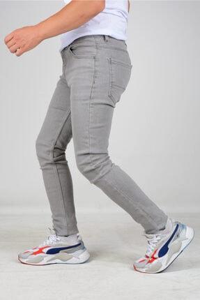 Edwox Erkek Skinny Jean Kot Pantolon Gri 1