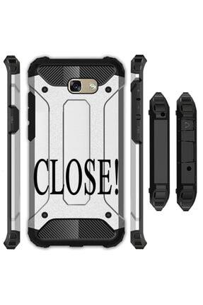 cupcase Samsung Galaxy A5 2017 Kılıf Desenli Sert Korumalı Tank Kapak - Close 0