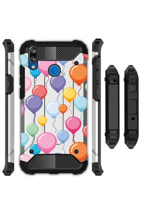 cupcase Samsung Galaxy A20 Kılıf Desenli Sert Korumalı Crash Tank Kapak - Balonlar 0