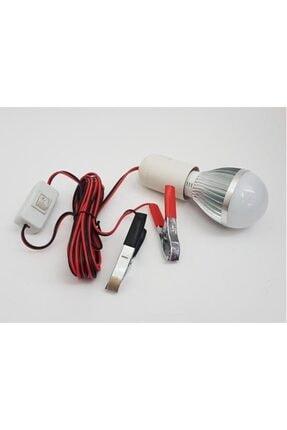 Kısmet Oto Seyyar Akü Lambası Akü Led Ampül Lamba 12 Volt 1-7w 4 Metre Kablo Seyyar Akü Oto Led Ampül Lamba 1