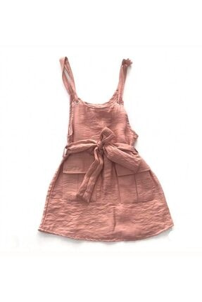 Limonkids Kız Çocuk Pembe Slopet Elbise 0