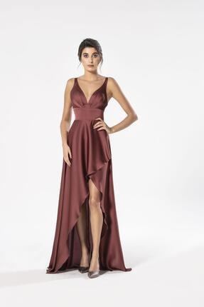 Maxxe Anvelop Saten Elbise 0