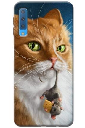 Noprin Samsung Galaxy A7 2018 Kılıf Silikon Baskılı Desenli Arka Kapak 0