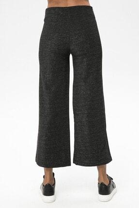 4over4 Kadın  Siyah Yanları Şeritli Yüksek Bel Pantolon 3