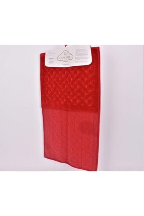 Çapa Home 2li Pamuk Klozet Takım T Kırmızı (hediyeli) 2