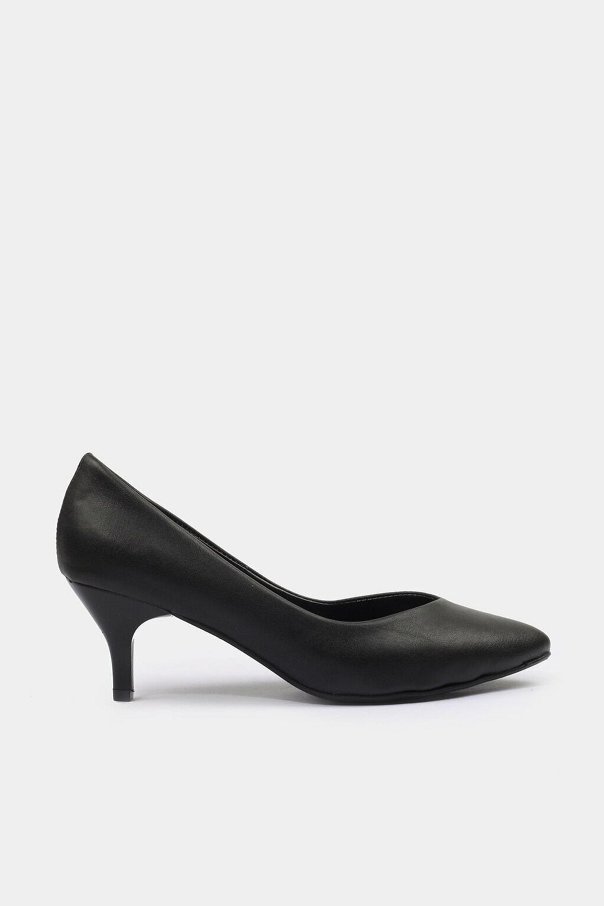 Hotiç Siyah Yaya Kadın Topuklu Ayakkabı 0