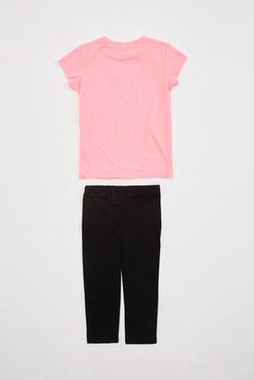 Defacto Kız Çocuk Baskılı T-shirt Tayt Takım 1
