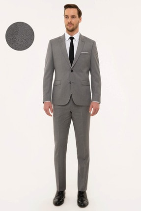 Erkek Gri Slim Fit Takım Elbise G021GL001.000.1156482