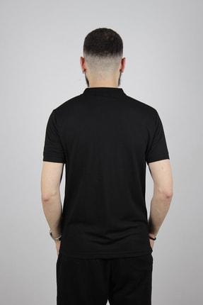 Blackcoach Erkek Siyah Jakarlı Polo Yaka Slim-fit T-shirt 1