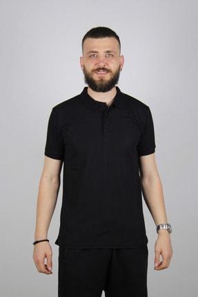 Blackcoach Erkek Siyah Jakarlı Polo Yaka Slim-fit T-shirt 2