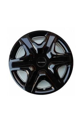 SAHLAN [kırılmaz] Hyundai Elantra Uyumlu 14 Inc Piano Black Siyah Jant Kapağı Seti 4 Adet 0