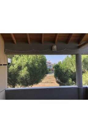 Nodes 400*100cm - Balkon Filesi Ağı - Kedi Filesi - Kuş Filesi - Çocuk Filesi - Beyaz 1