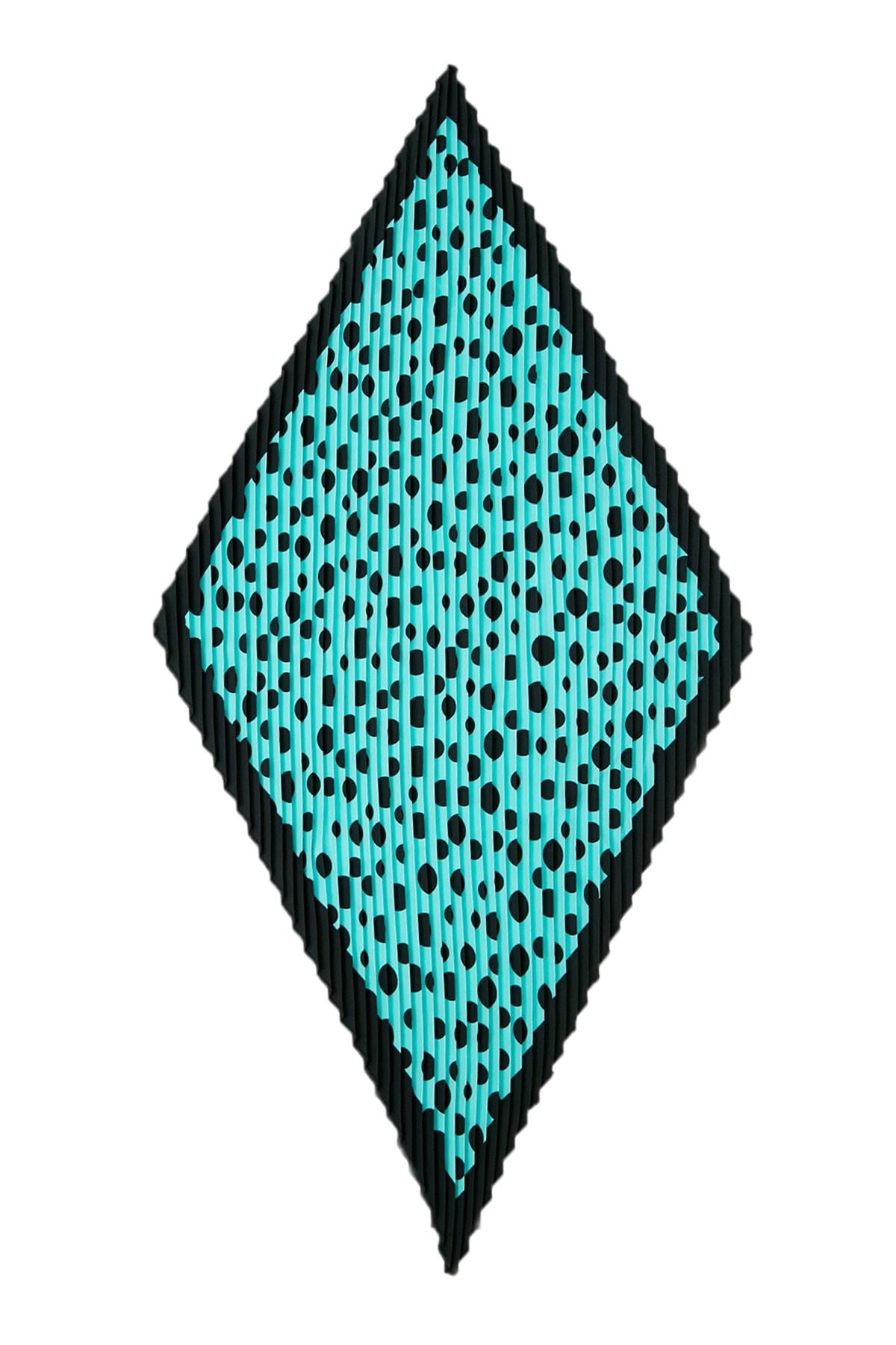 Vis a Vis Kadın Siyah-Mint Piliseli Fular Stn826Kfl101 2