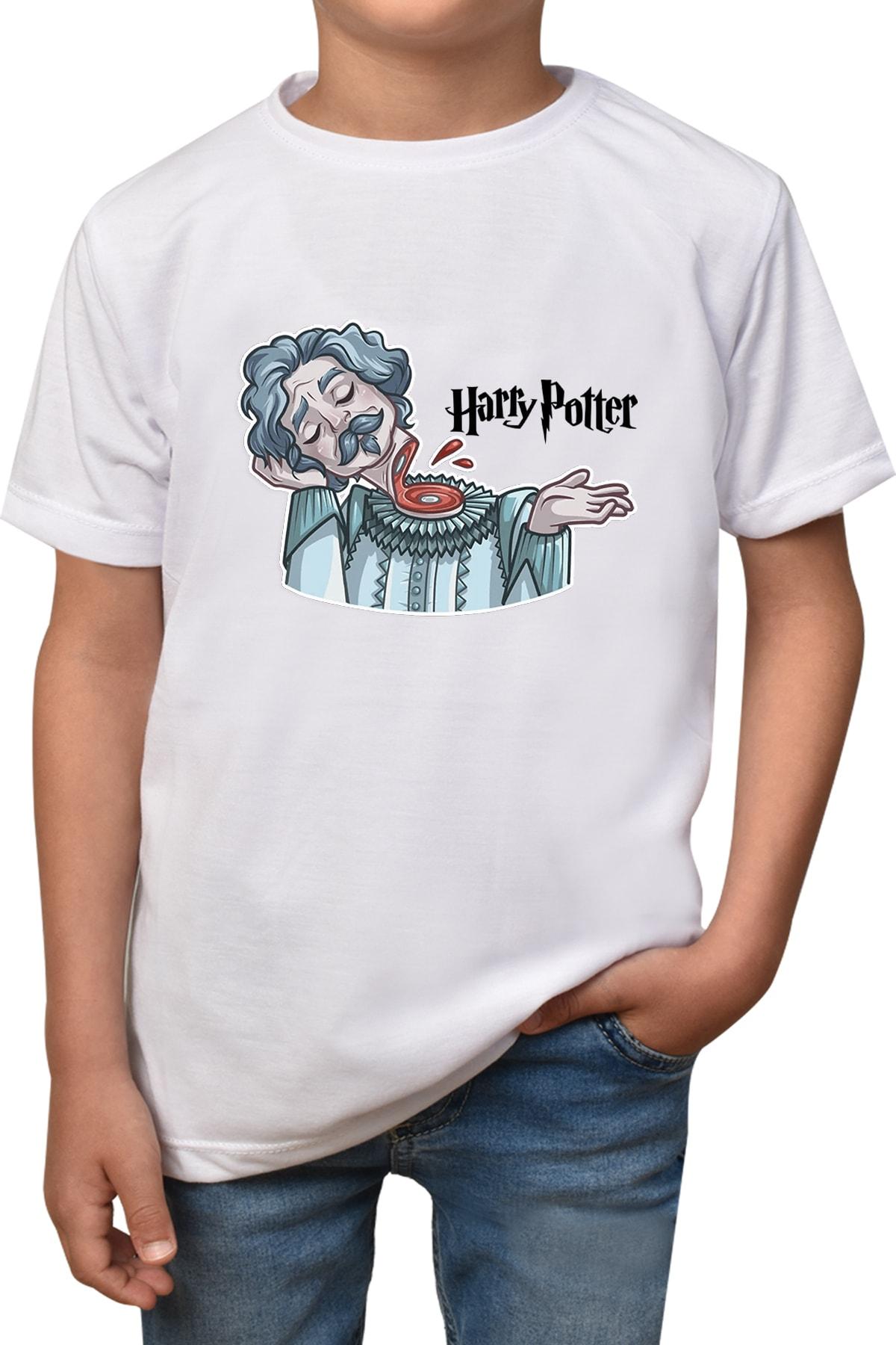 Unisex Çocuk Beyaz Harry Potter T-shirt T-125