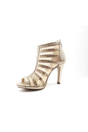 PUNTO Kadın Sarı Ince Topuklu Ayakkabı 655113z 1