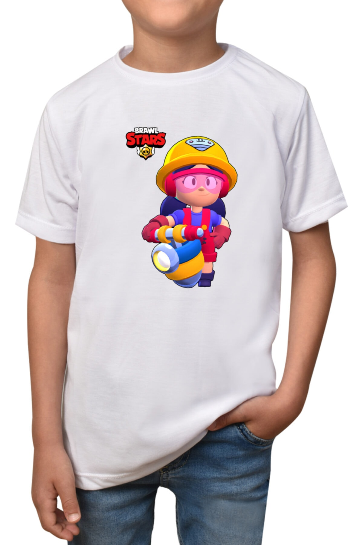 Erkek Çocuk Beyaz Baskılı  T-Shirt T-1