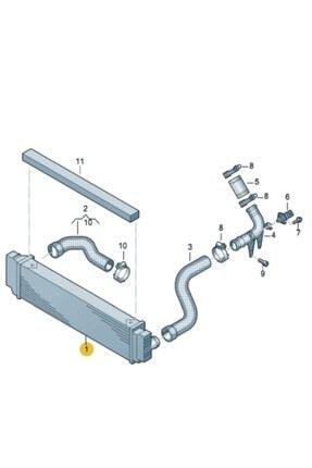 KALE Turbo Radyatoru Intercooler W906 Sprinter Cdi Crafter 2.0 Tdi 06- 0