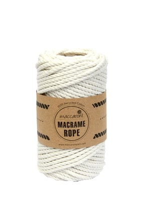 Maccaroni Bükümlü Makrome Hobi İpi - 4 mm 0