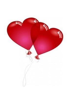 KullanAtParty Kalp Şeklinde Kırmızı Renk Balon 100 Adet 1