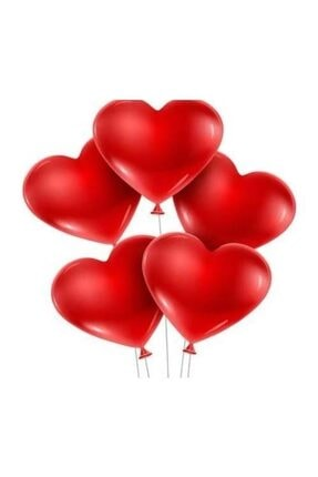 KullanAtParty Kalp Şeklinde Kırmızı Renk Balon 100 Adet 3