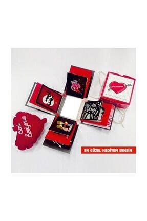 KRAUSBERG Sevgiliye Hediye Patlayan Aşk Kutusu Seni Seviyorum Yazılı Yastıkla 0