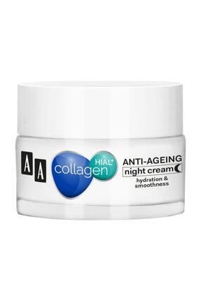 AA Cosmetics Collagen Hıal+  Kolajen Nem + Yaşlanma Karşıtı Gece Kremi 50ml 0