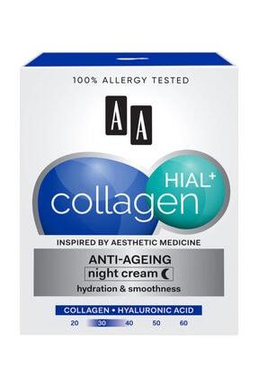 AA Cosmetics Collagen Hıal+  Kolajen Nem + Yaşlanma Karşıtı Gece Kremi 50ml 1