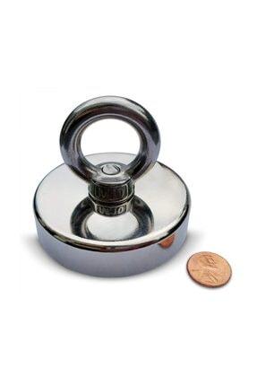 Dünya Magnet Süper Güçlü Halkalı Büyük Neodyum Pot Mıknatıs, 60mm Çap, Magnet Fishing, Kurtarma Mıknatısı 2