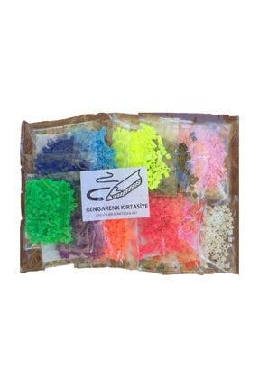 RENGARENK KIRTASİYE Rengarenk Kırtasiye Hama Tipi Tasarım İçin Poşet Boncuk (12 Renk ) 0
