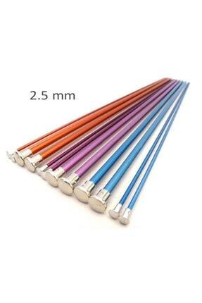 Ayaz Renkli Metal Şiş   Sağlam Örgü Şişi 0