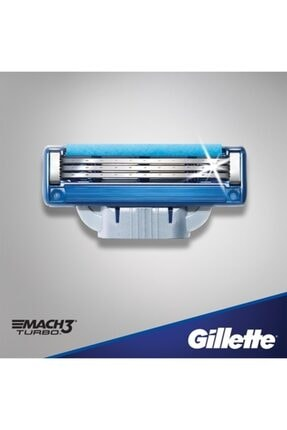 Gillette Mach 3 Turbo 12'li Yedek Tıraş Bıçağı 2