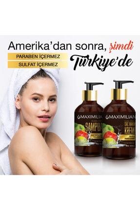 Maximilian Glutensiz Kepek Yağlı Saçlar için Yağlı Saç Bakımı Kepek Karşıtı Doğal Elma Sirkeli Şampuan 500 ml 4